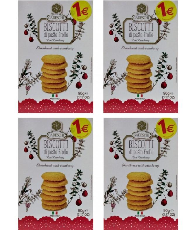 PACK FAMILIA 4 Gadeschi Biscoitos Mirtilo 90gr
