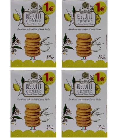 PACK FAMÍLIA 4 Gadeschi Biscoitos Limão 90gr