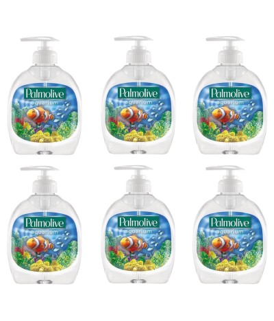 PACK FAMILIA 6 Palmolive Jabón de Manos Aquarium 300ml