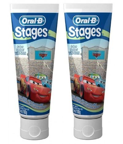 PACK 2 Oral-B Pasta Dentífrica Infantil Cars 75ml