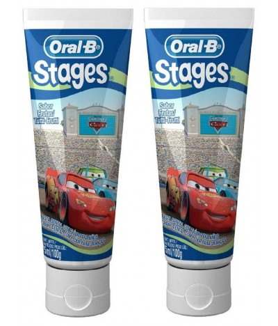 PACK 2 Oral-B Pasta Dentífrica Infantil Cars 75ml