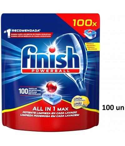Finish Todo en 1 Lavavajillas Limón 100un