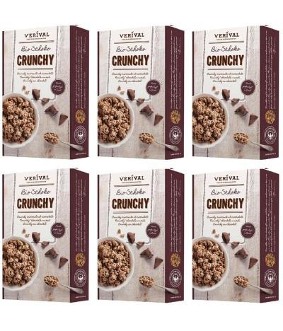 PACK FAMÍLIA 6 Muesli de Chocolate Bio 375gr