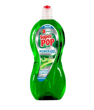 Super Pop Lavavajillas Power Gel Limón Verde 700ml
