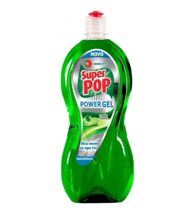Super Pop Lavavajillas Power Gel Limón Verde 700ml