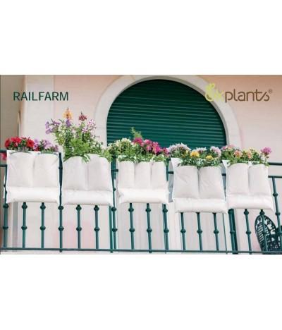 Okplants Floreira Railfarm 3 bolsas 56x30cm