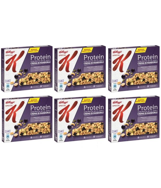 PACK FAMÍLIA 6 Kelloggs Protein Barrita Frutos Secos 4un