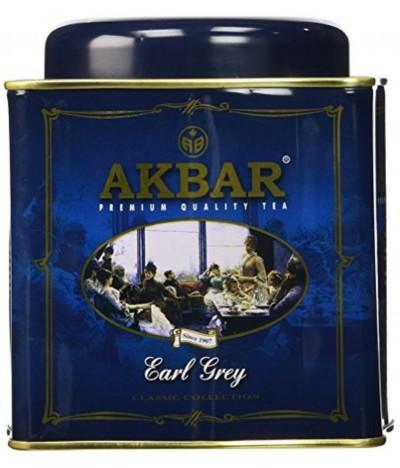 Akbar Chá Preto Earl Grey Classic Lata 250gr