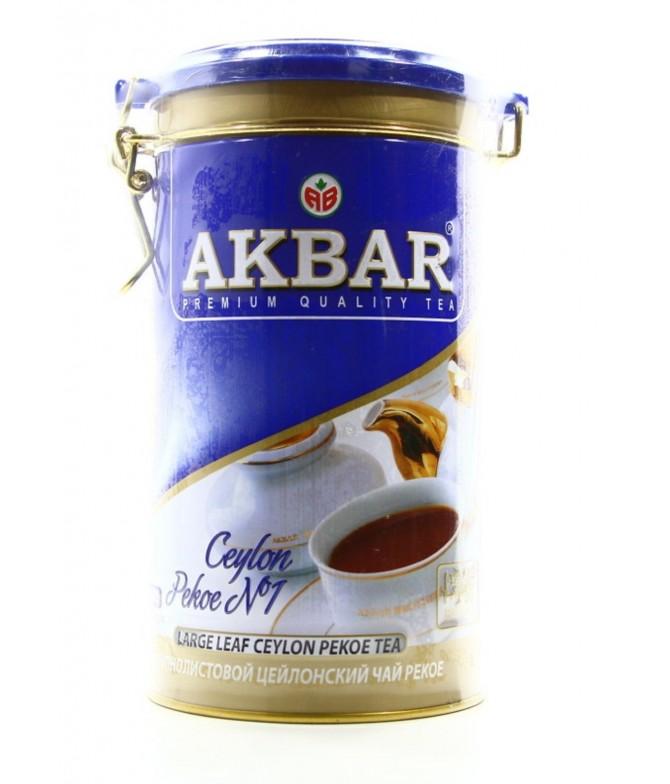 Akbar Té Negro de Ceilán Pekoe Lata 225gr
