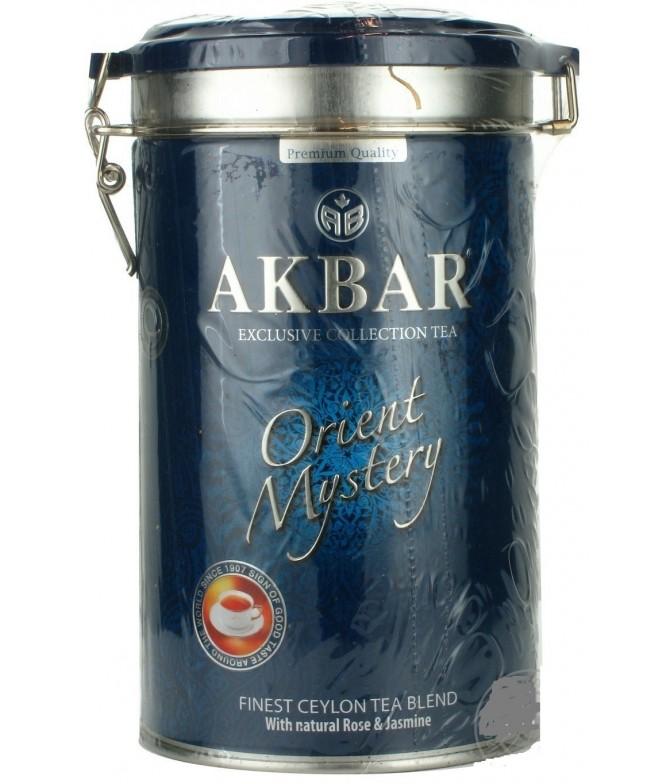 Akbar Chá Preto & Verde Orient Mystery Lata 200gr
