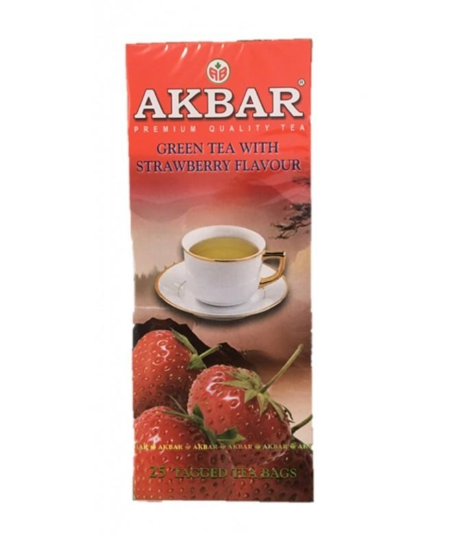 Akbar Té Verde & Fresa 25un