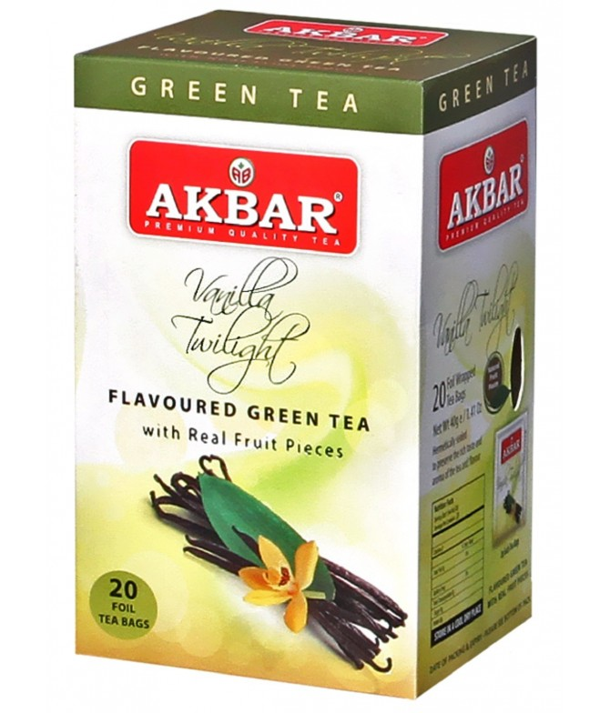 Akbar Té Verde & Vainilla 20un
