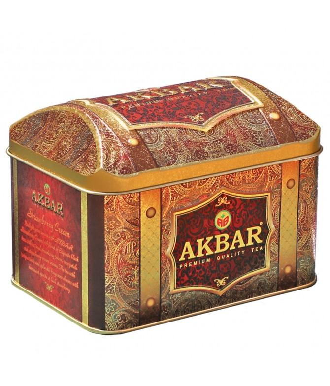 Akbar Chá Preto do Ceilão Strawberry Cream 250gr