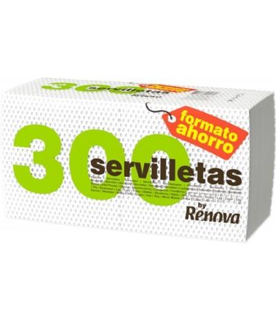 Renova Servilleta 1 Hoja Blanco 300un