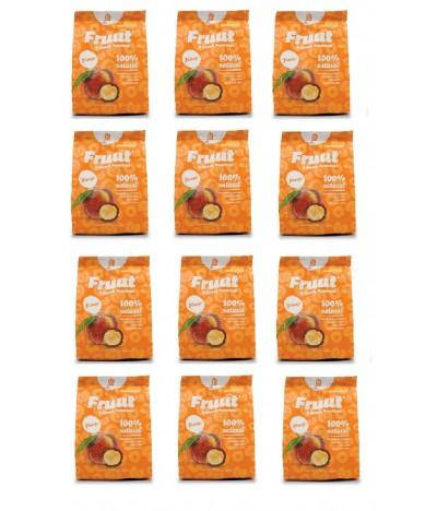 PACK FAMILIA 12 Fruut Snack Chips 100% Melocotón 20gr