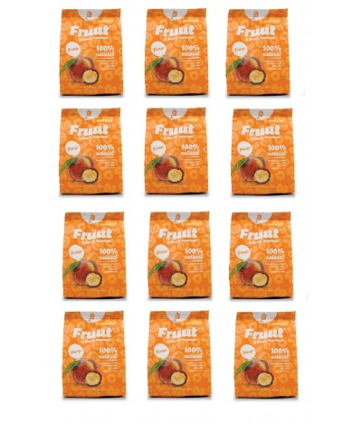 PACK FAMÍLIA 12 Fruut Snack Chips 100% Pêssego 20gr