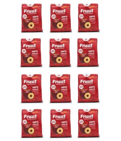 PACK FAMÍLIA 12 Fruut Snack Chips 100% Maçã Vermelha 20gr