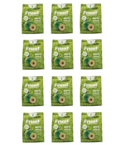 PACK FAMILIA 12 Fruut Snack Chips 100% Manzana Verde 20gr