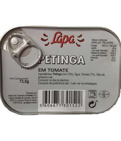 Lapa Sardinas en Tomate 105gr
