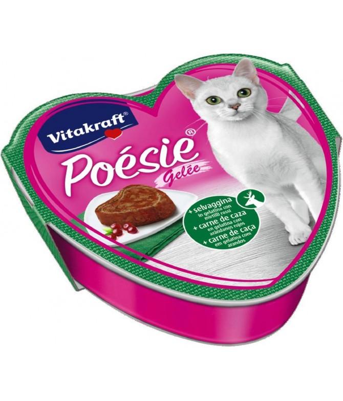 Latinha Poesie Gelatina Carne de Caça para Gato Vitakraft