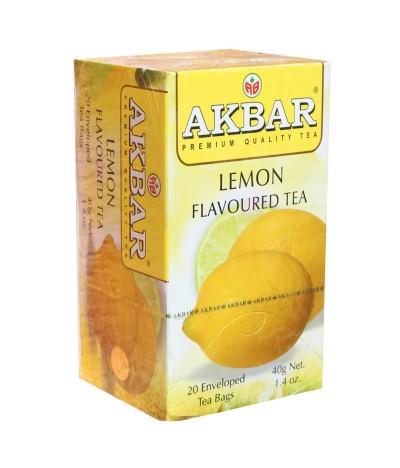 Akbar Chá Preto & Limão 20un