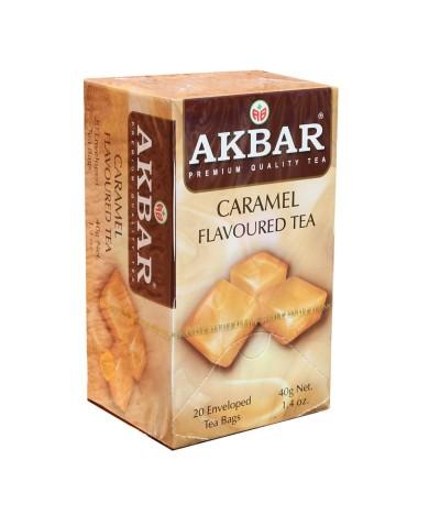 Akbar Chá Preto & Caramelo 20un