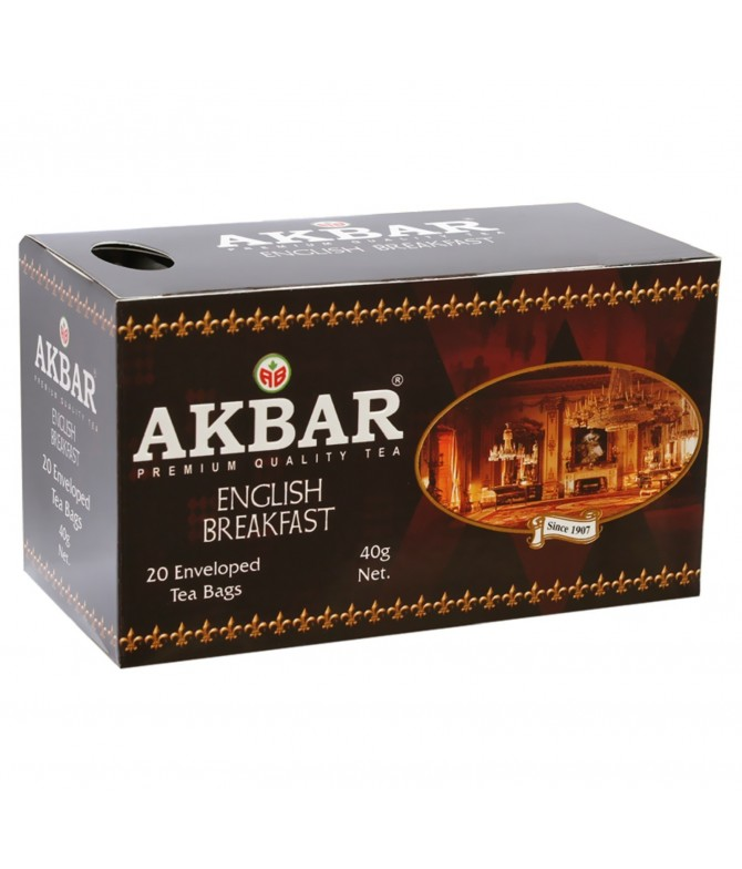 Akbar Té Negro English Breaksfast 20un