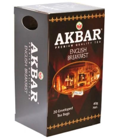 Akbar Chá Preto English Breakfast 20un