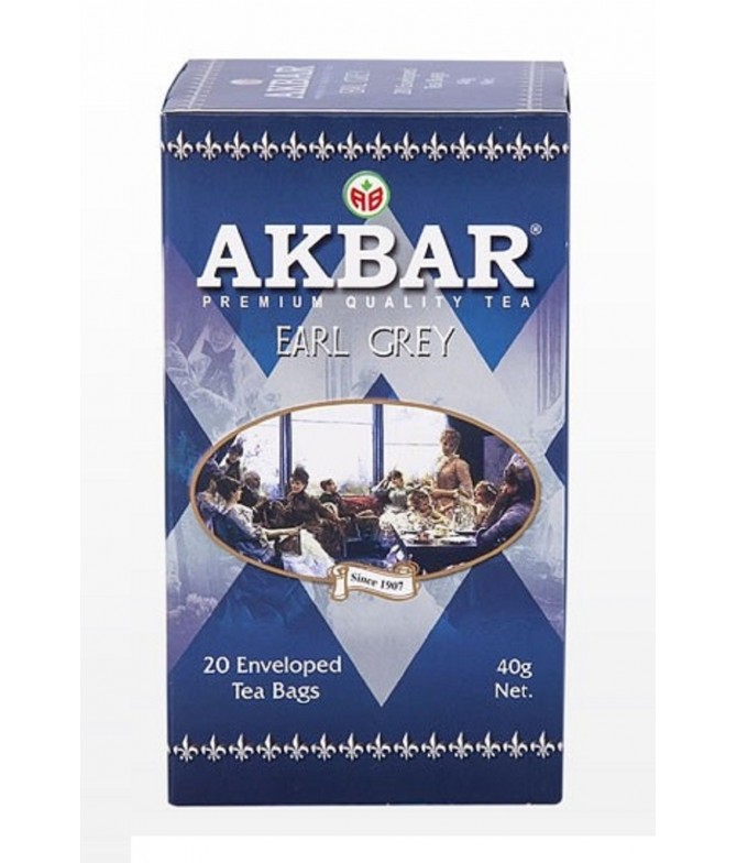 Akbar Chá Preto Earl Grey 20un