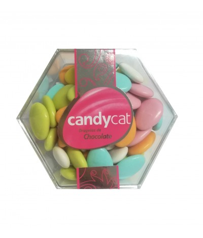 Candycat Drageias Choc Caixa Hexagonal 250gr