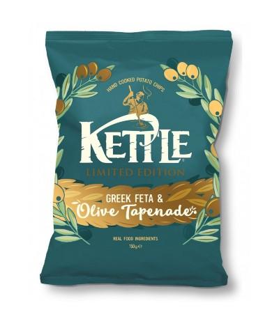 Kettle Patatas Fritas & Aceitunas 150gr