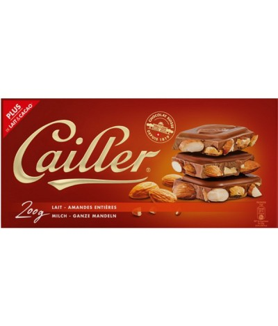 Cailler Chocolate Leche Avellanas Enteras 200gr