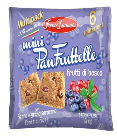 Mini PanFruttelle Frutos do Bosque 6x35gr