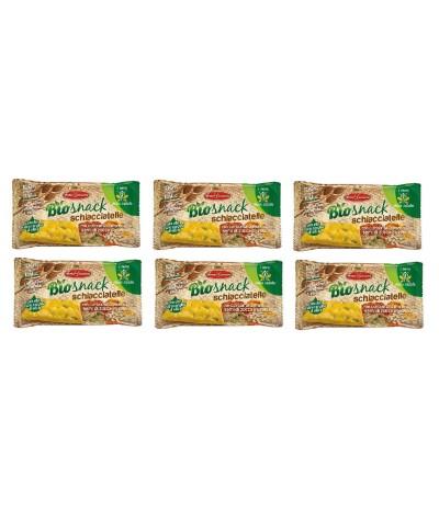 PACK FAMÍLIA 6 BioSnack Schiacciatelle Crackers Trigo 35gr
