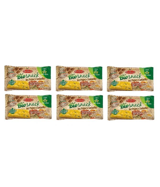 PACK FAMILIA 6 BioSnack Schiacciatelle Crackers Trigo 35gr