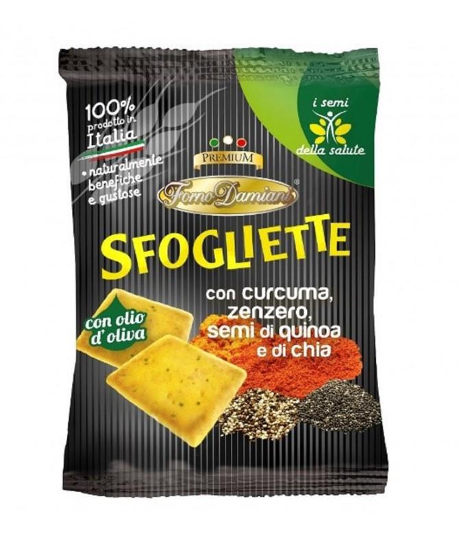 Sfogliette Curcuma & Chía Quinoa 35gr