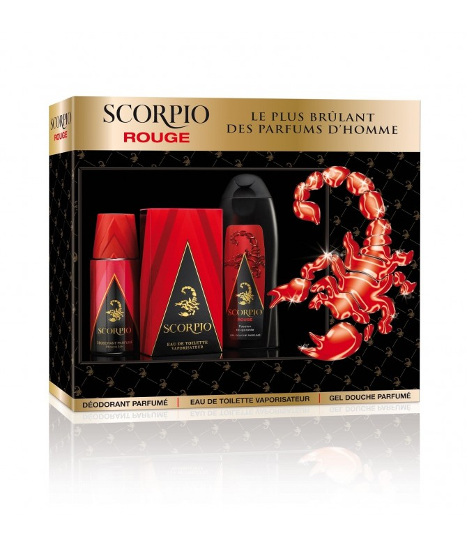 Scorpio Coffret Red Deo Eau Toilette & Gel