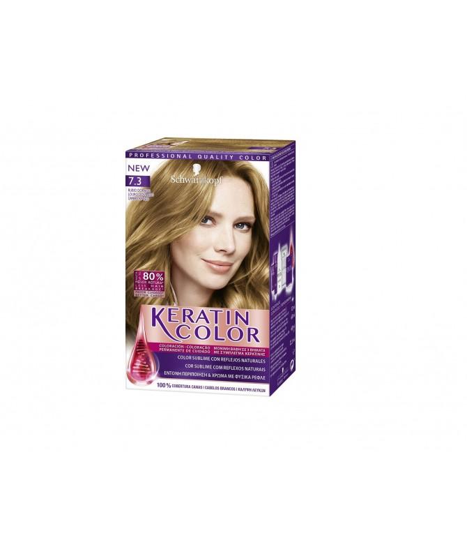 Schwarzkopf Keratin Color 7.3 Rubio Dorado 1un