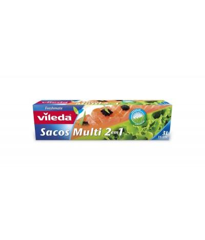 Sacos Multiusos 2 em 1 de 3L Vileda