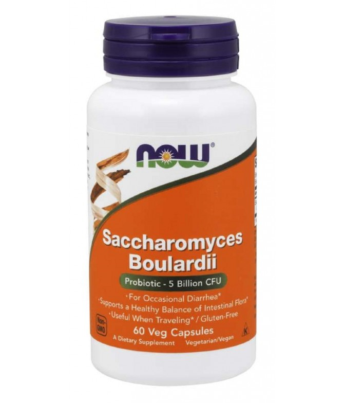 Now Saccharomyces Boulardii INTESTINO 60un