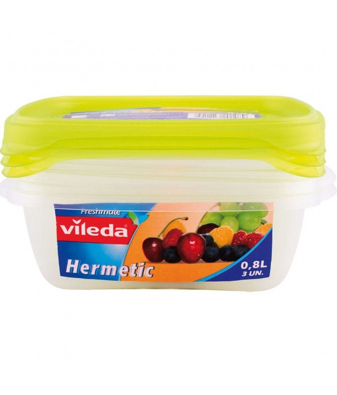 Vileda Caja Hermética 0,8L 3un