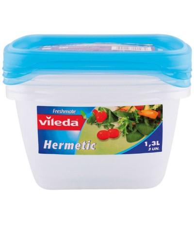 Vileda Caixa Hermética 1,3L 3un
