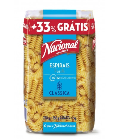 Nacional Espirais Fusilli 1kg