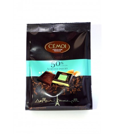 Cémoi Chocolate Preto 50% & Amêndoas 125gr