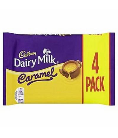 Cadbury Dairy Milk Choc Leite & Caramelo 4un