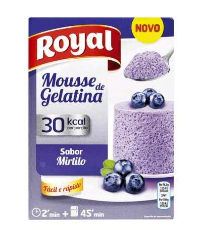 Royal Mousse de Gelatina Mirtilo 31gr