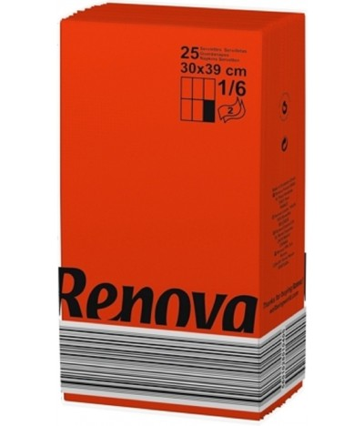 Renova Guardanapo Black Label VERMELHO 2F 25un