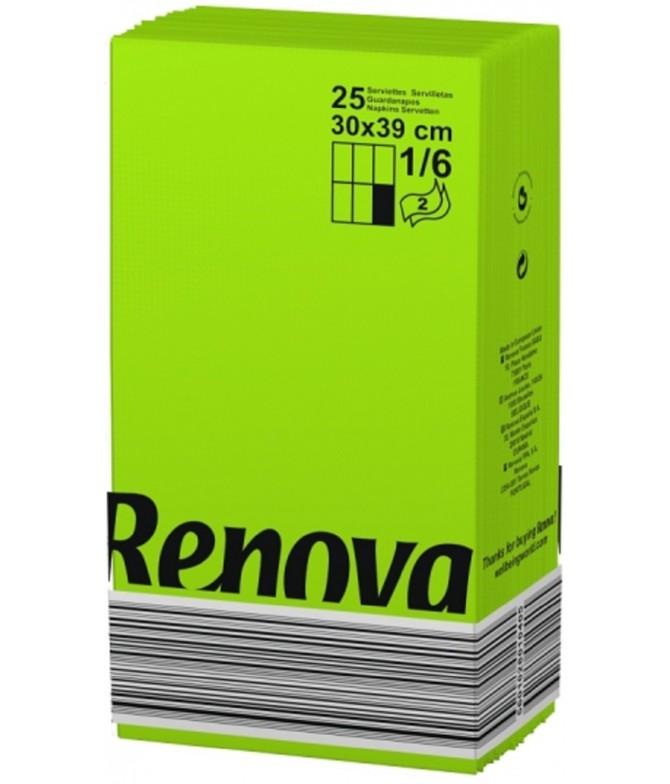 Renova Servilletas Black Label VERDE 2C 25un