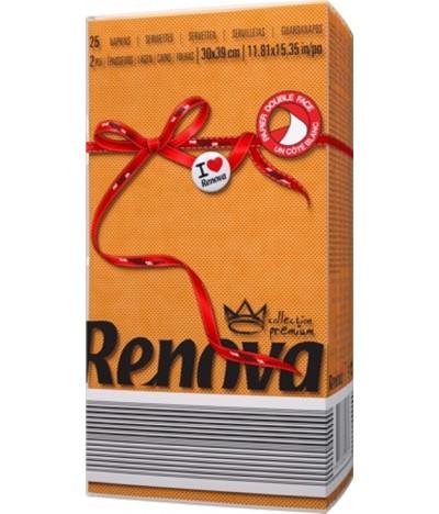 Renova Servilletas Red Label NARANJA 2C 25un
