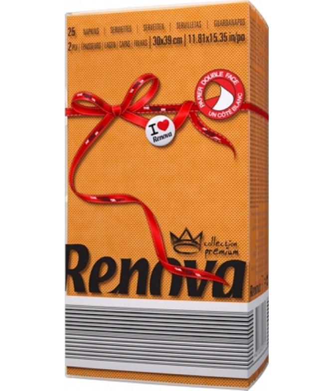 Renova Guardanapo Red Label LARANJA 2F 25un